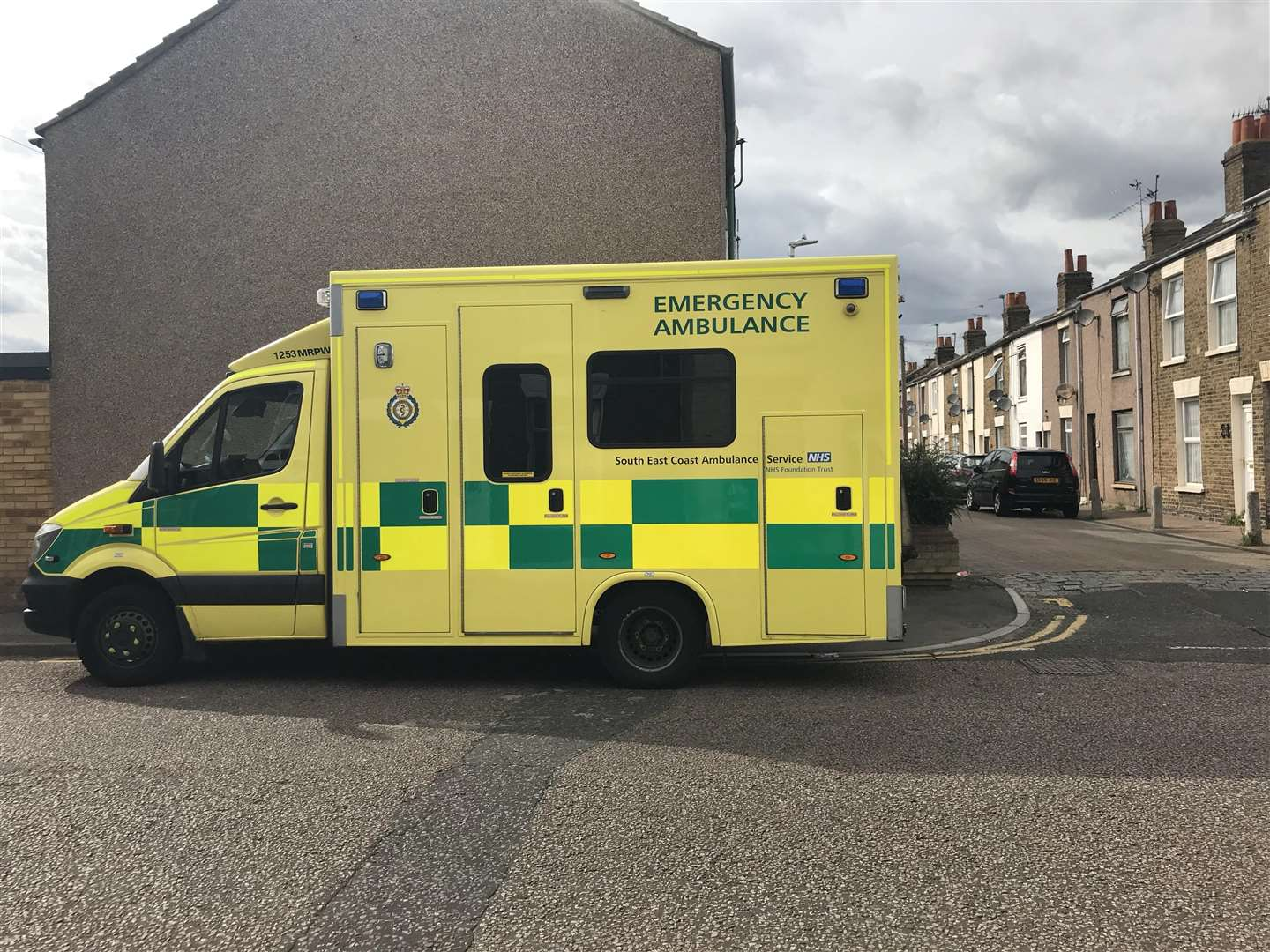 The ambulance in Richmond Street, Sheerness