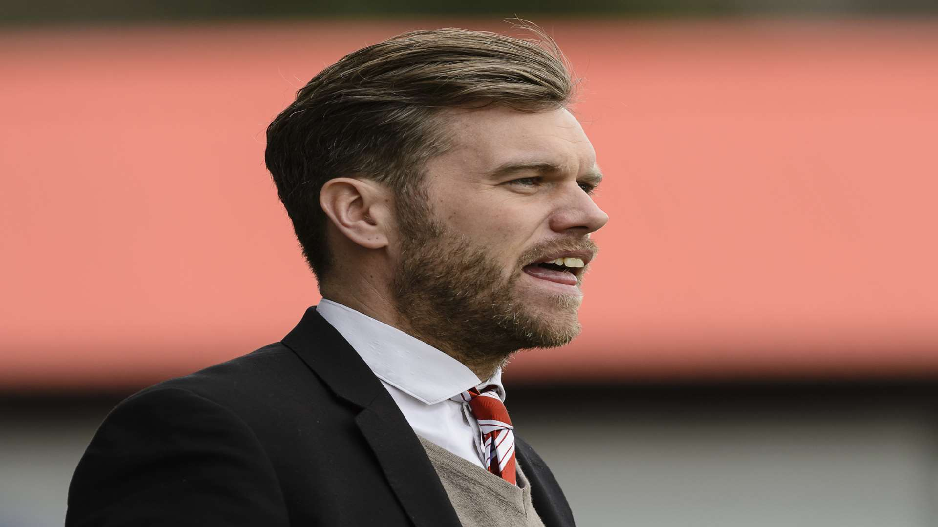 Ebbsfleet United manager Daryl McMahon Picture: Andy Payton