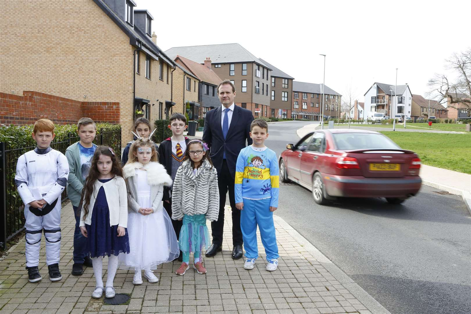 Tom Tugendhat's visit to Valley Invicta Primary School, Leybourne Chase coincided with World Book Day. Picture: Andy Jones (7660337)