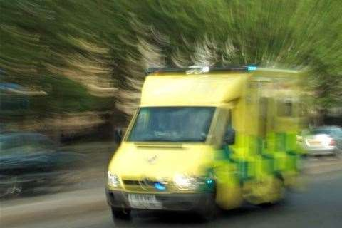 An ambulance responds to an emergency. Stock picture (15242553)
