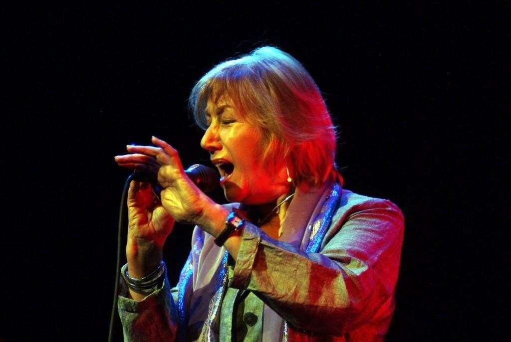 Džiazo dainininkė Norma Winston.  Pat Whitmore nuotrauka