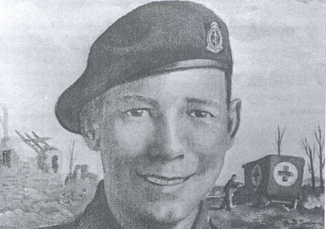 A portrait of Lane Cpl Henry 'Eric' Harden who was posthumously awarded the Victoria Cross