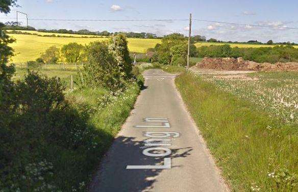 General view of Long Lane, Shepherdswell. Picture: Google Maps. (2451745)