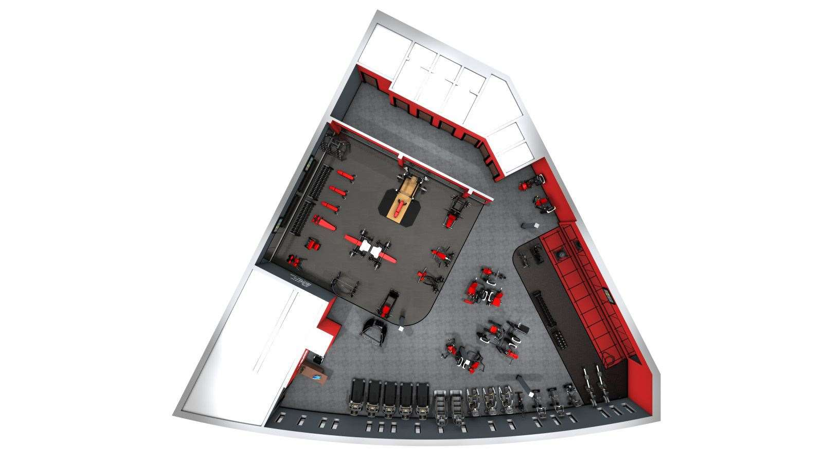 The layout of Snap Fitness in Ashford