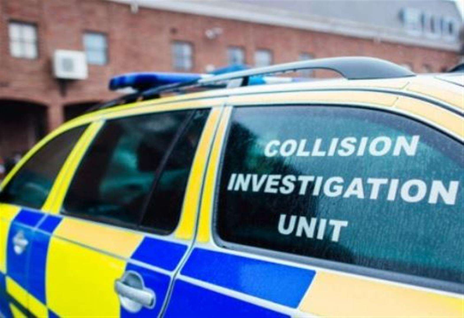 Kent Police collision investigation unit - Stock Image (1614810)