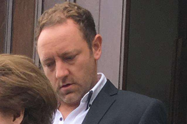 Richard Fagg leaves Maidstone Magistrates' Court