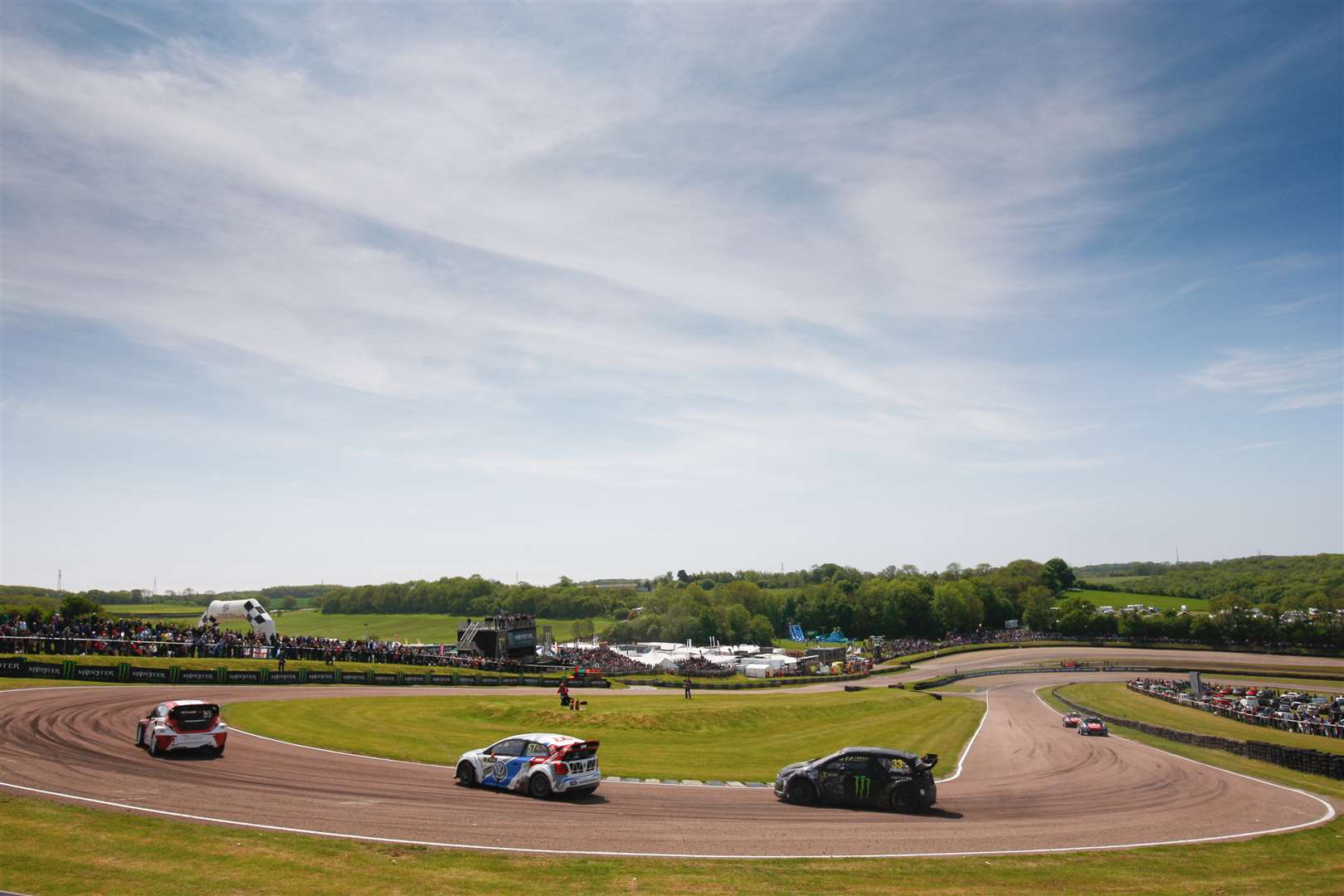 FIA World Rallycross Championship action from Lydden Hill