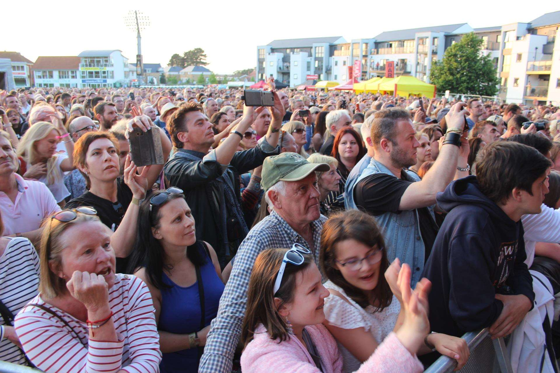Music fans at Kent Cricket's Spitfire Ground, Canterbury, on Wednesday. Picture: John Nurden (2441315)