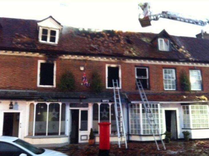 A family escaped from this inferno Picture: Kent Fire and Rescue