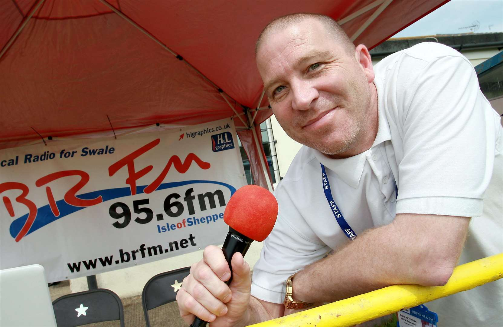 DJ Doug Patterson from BRFM. Picture: Phil Lee