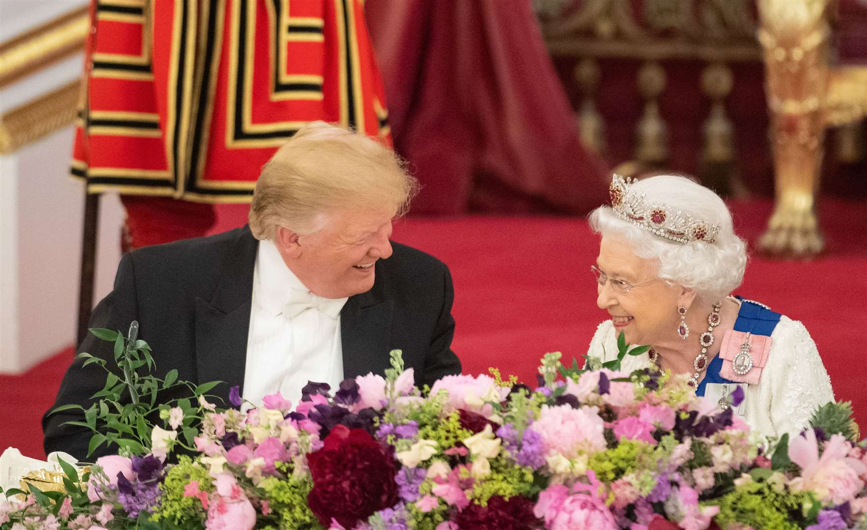The Queen hosted a banquet in the President's honour during his 2019 state visit. Dominic Lipinski