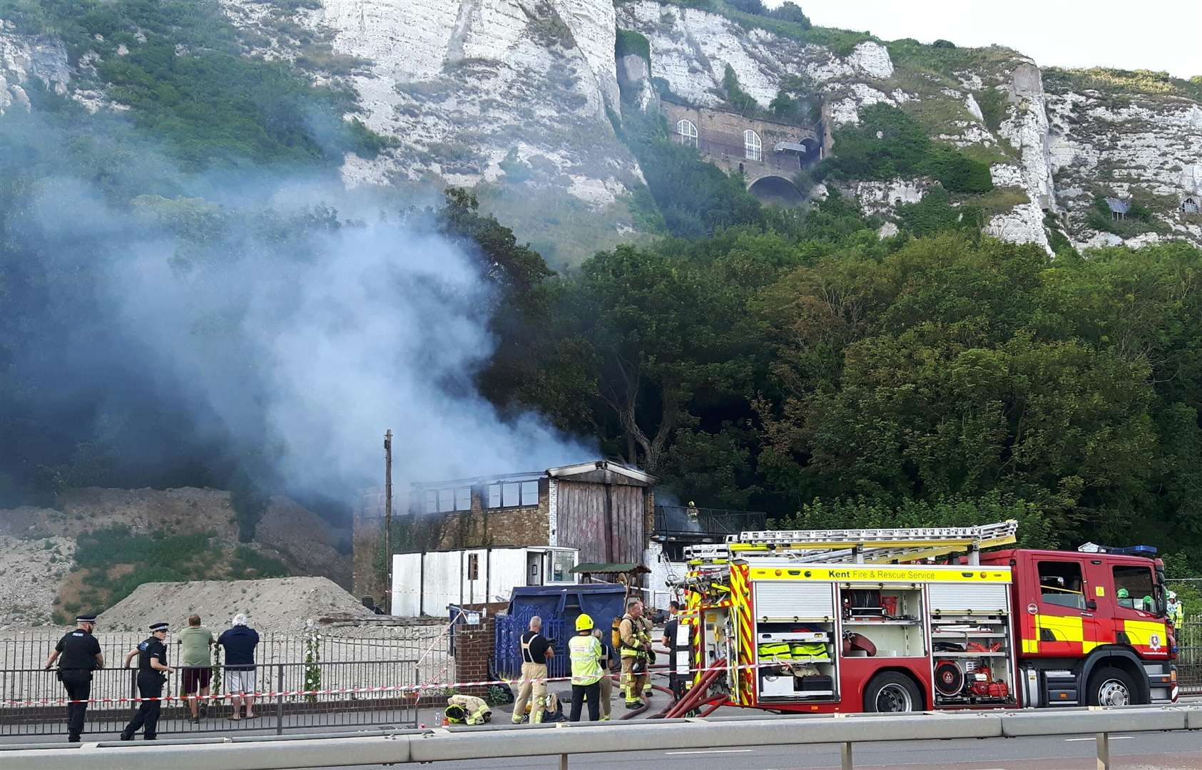 The Townwall Street shed fire. Picture: Sam Lennon (3020297)