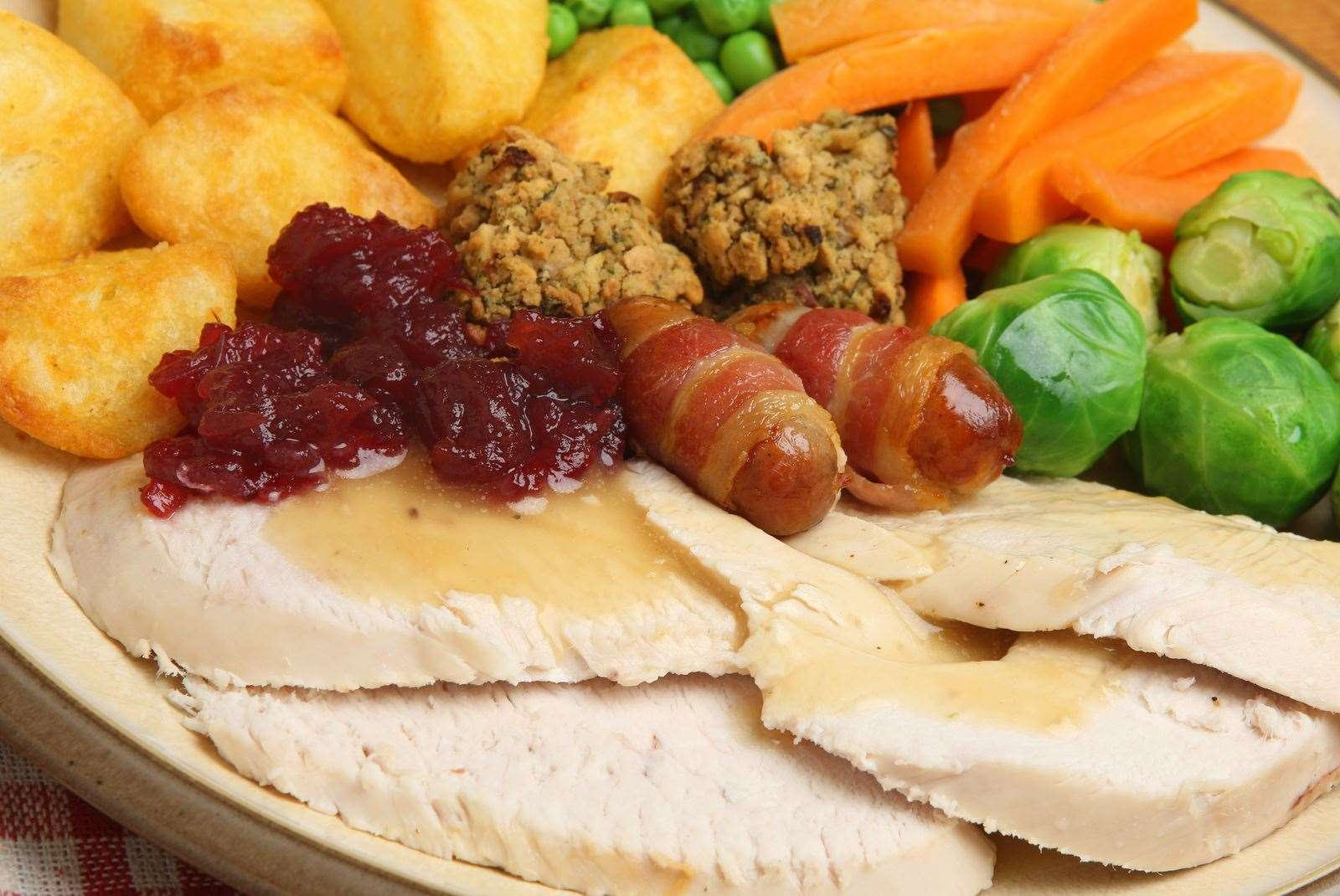 People can book tables of up to 20 for the festive meal, which also has a vegan option. Picture: stock