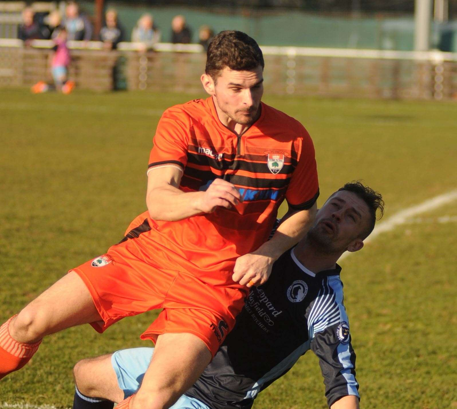Joe Kane in action for Lordswood against Crowborough this season Picture: Steve Crispe
