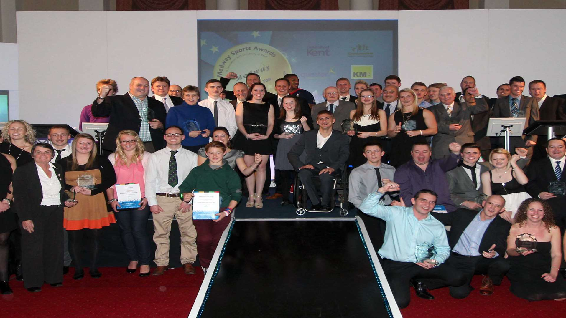 Some of the winners at the 2012 Medway Sports Awards. Picture: Darren Small