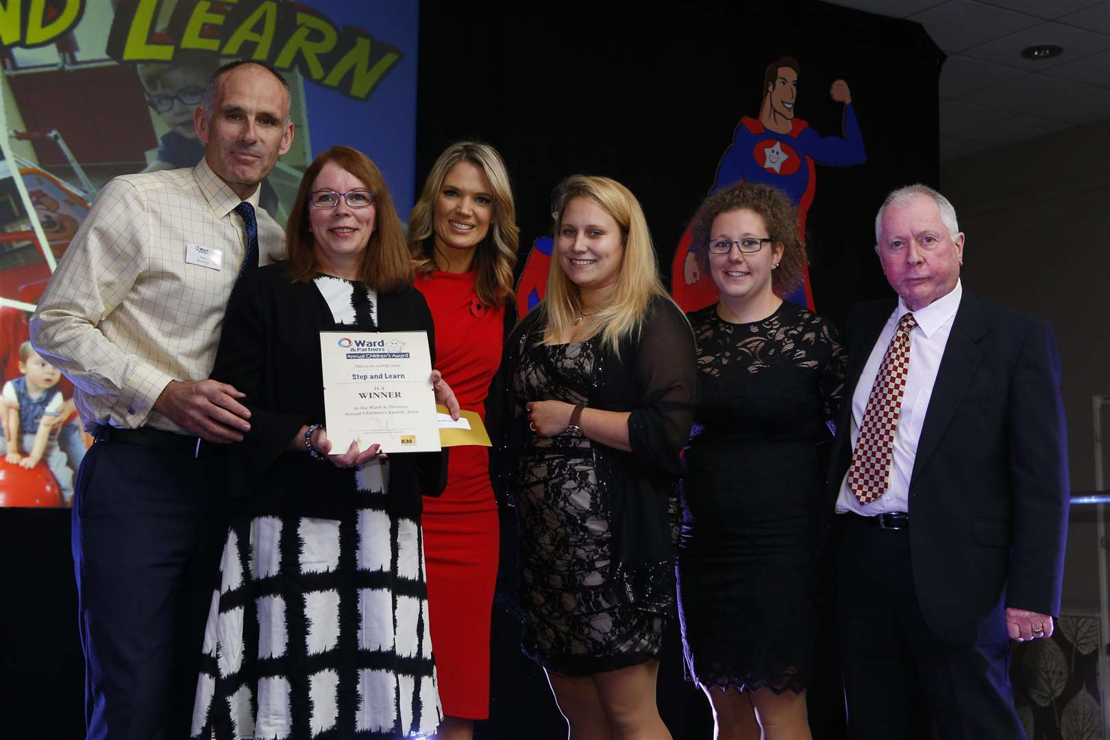 The Outstanding Charity award went to Step and Learn, pictured with Senior Director of Lettings Jason Bunning & Charlotte Hawkins. Picture: Andy Jones