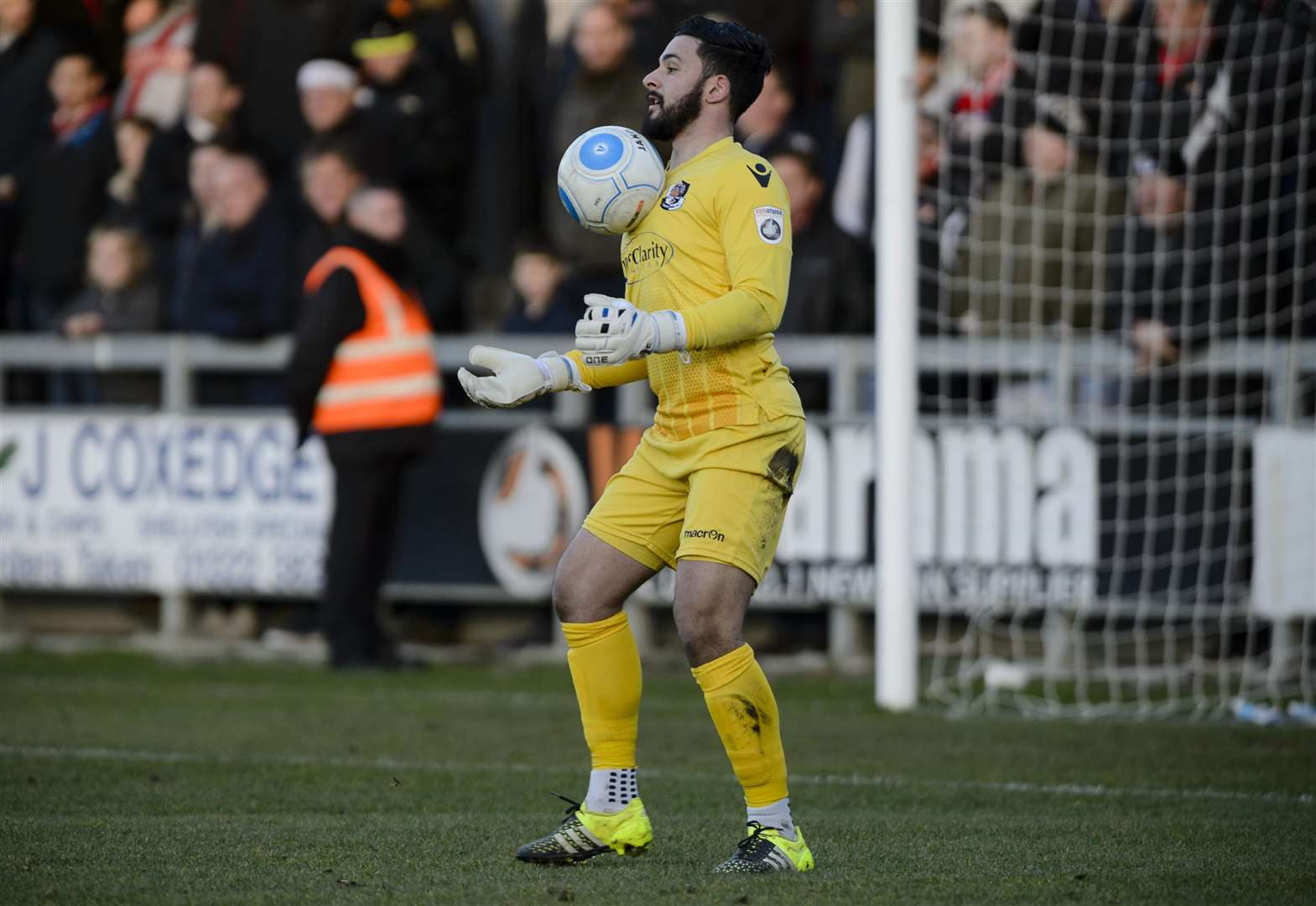 Dartford goalkeeper Deren Ibrahim Picture: Andy Payton