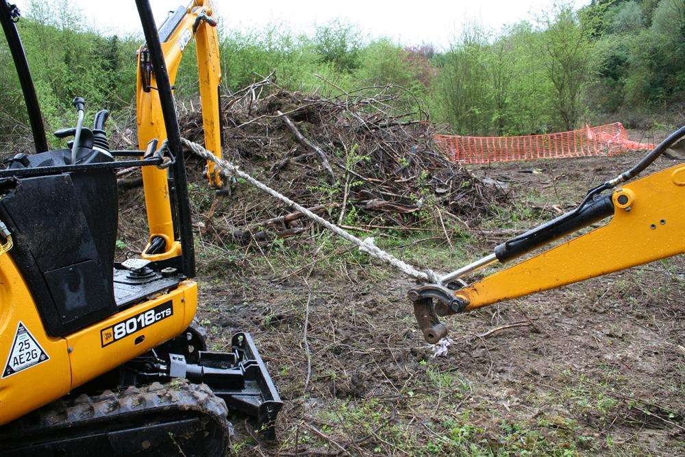 Vandals stole and damaged a range of expensive and dangerous JCB machinery
