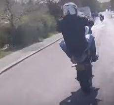 One of the wheelies captured on the footage