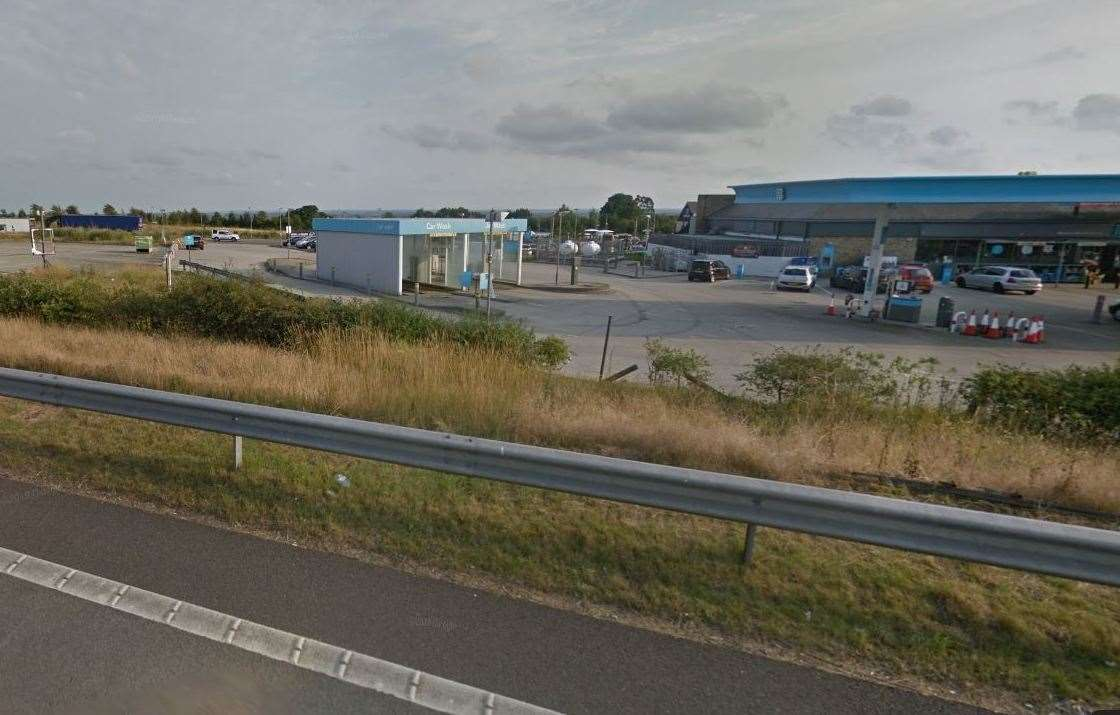 The site is located behind the petrol station in Minster. Picture: Google Street View
