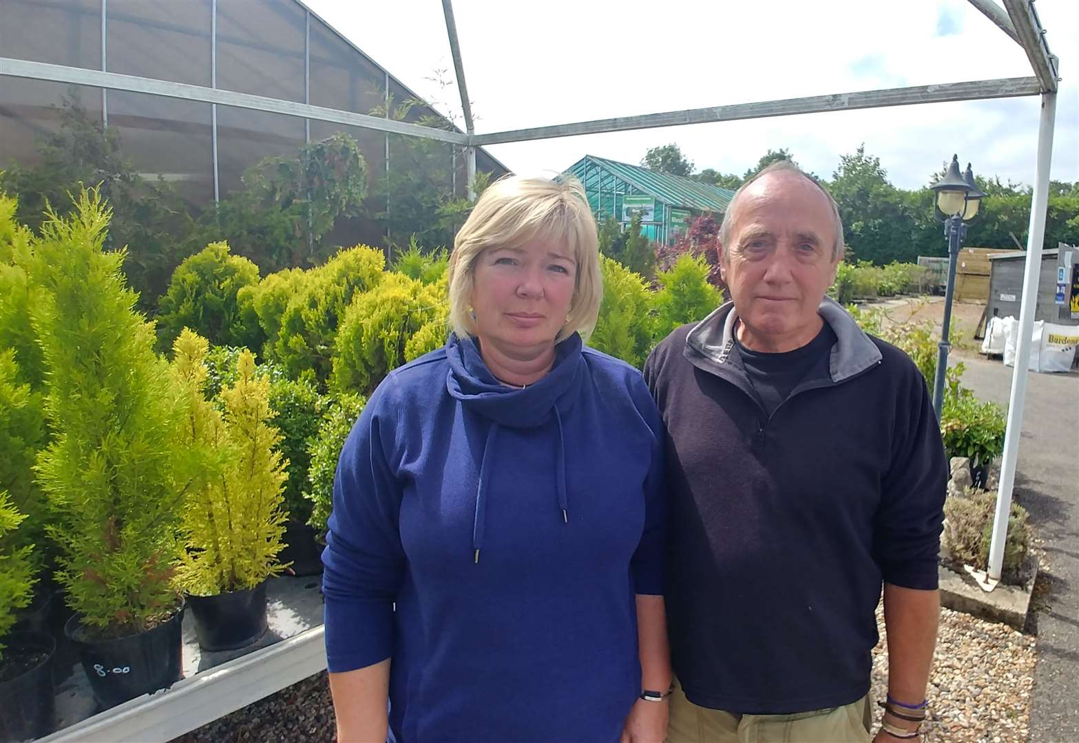 Celia Hanks and Roy Chandler feared they would have to close the business following the death of Nigel Hanks