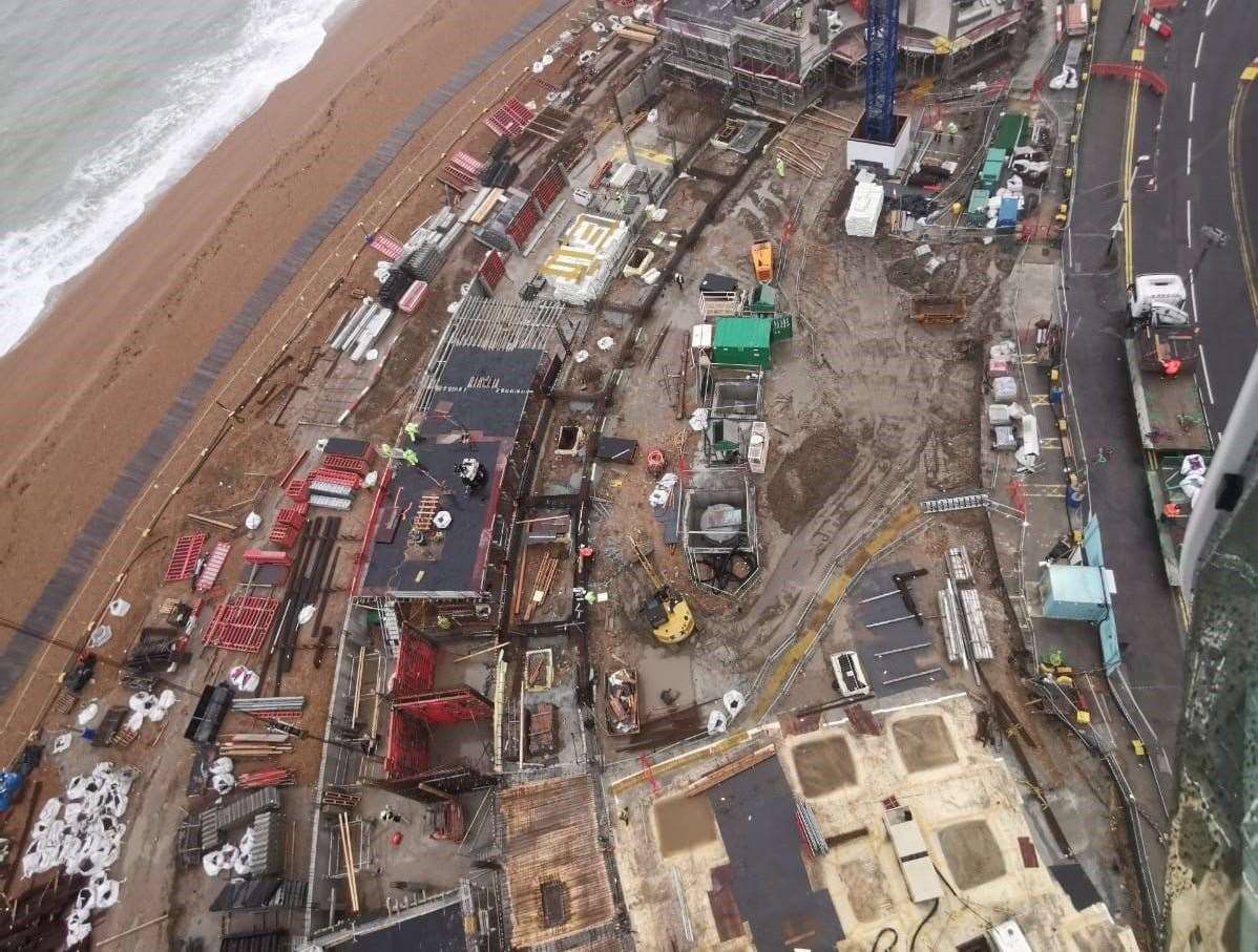 Pictures show how the seafront development in Folkestone is progressing. Picture: Jenner