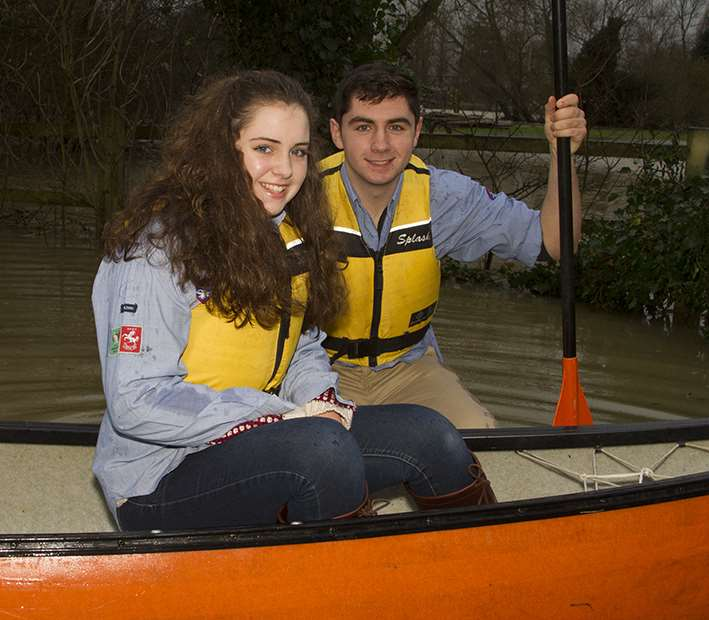 Volunteers can make a big difference if a plan is in place according to the Environment Agency. Explorer Scouts Laura, 13, and Joseph Wilson, 17, helping with the rescue effort last year.