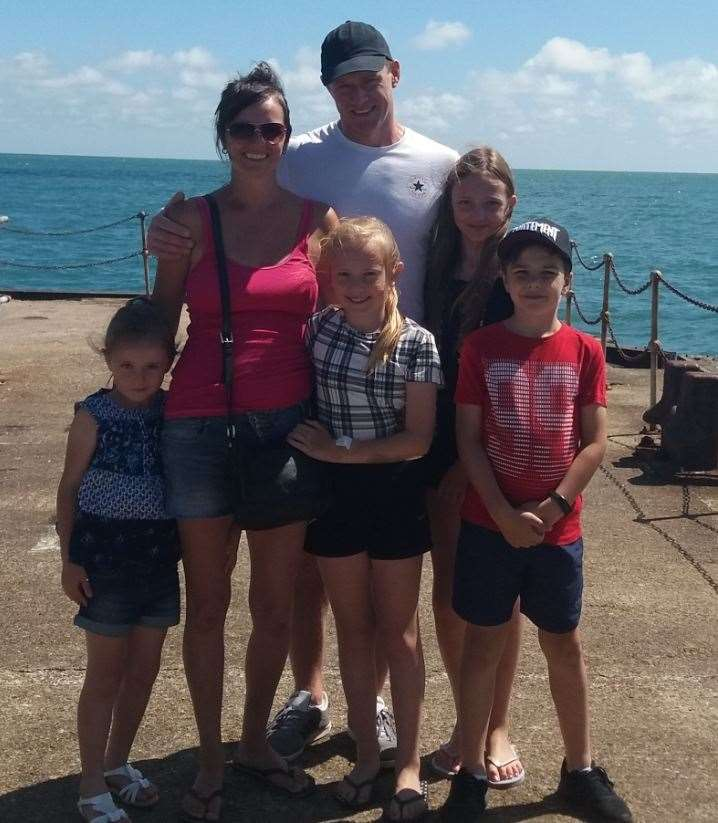 Evie Clark and family on holiday in 2018
