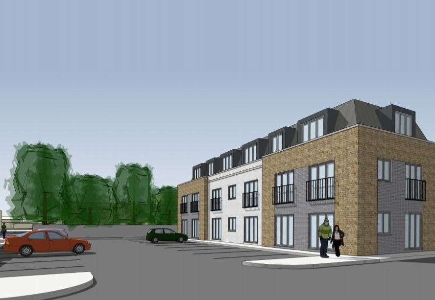 What the former Kemsley Arms pub could look like if its plans for a shop and flats are approved. Picture: Kent Design Partnership