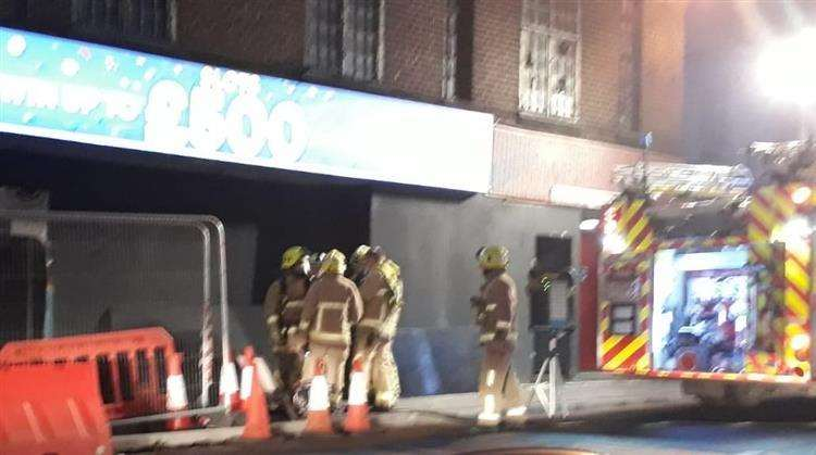Gala bingo building on fire in Maidstone. Picture: Denna Barrett (6245730)