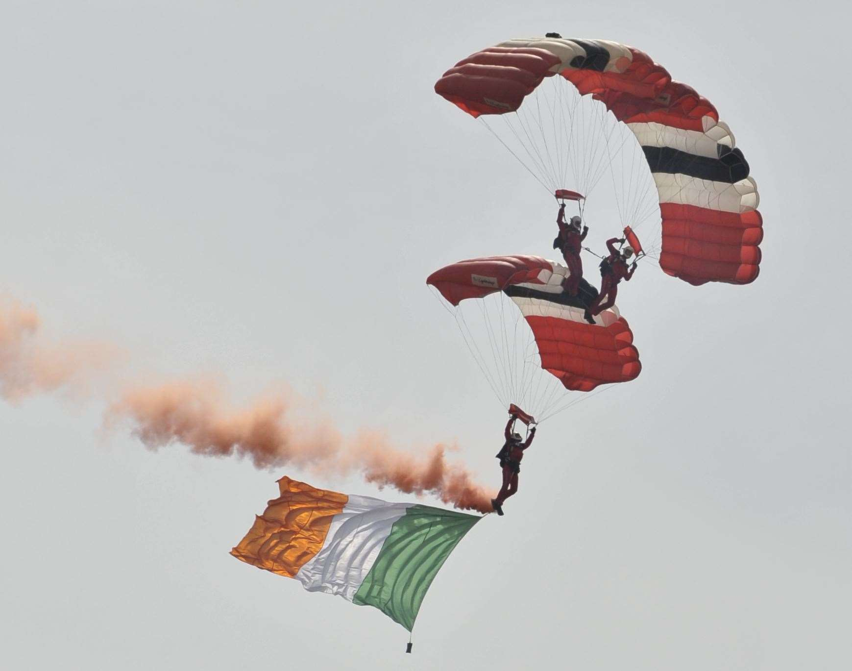 The Red Devils - the Parachute Regiment's display team - arrive at Brands as part of the opening ceremony in 2009. Picture: Andy Payton