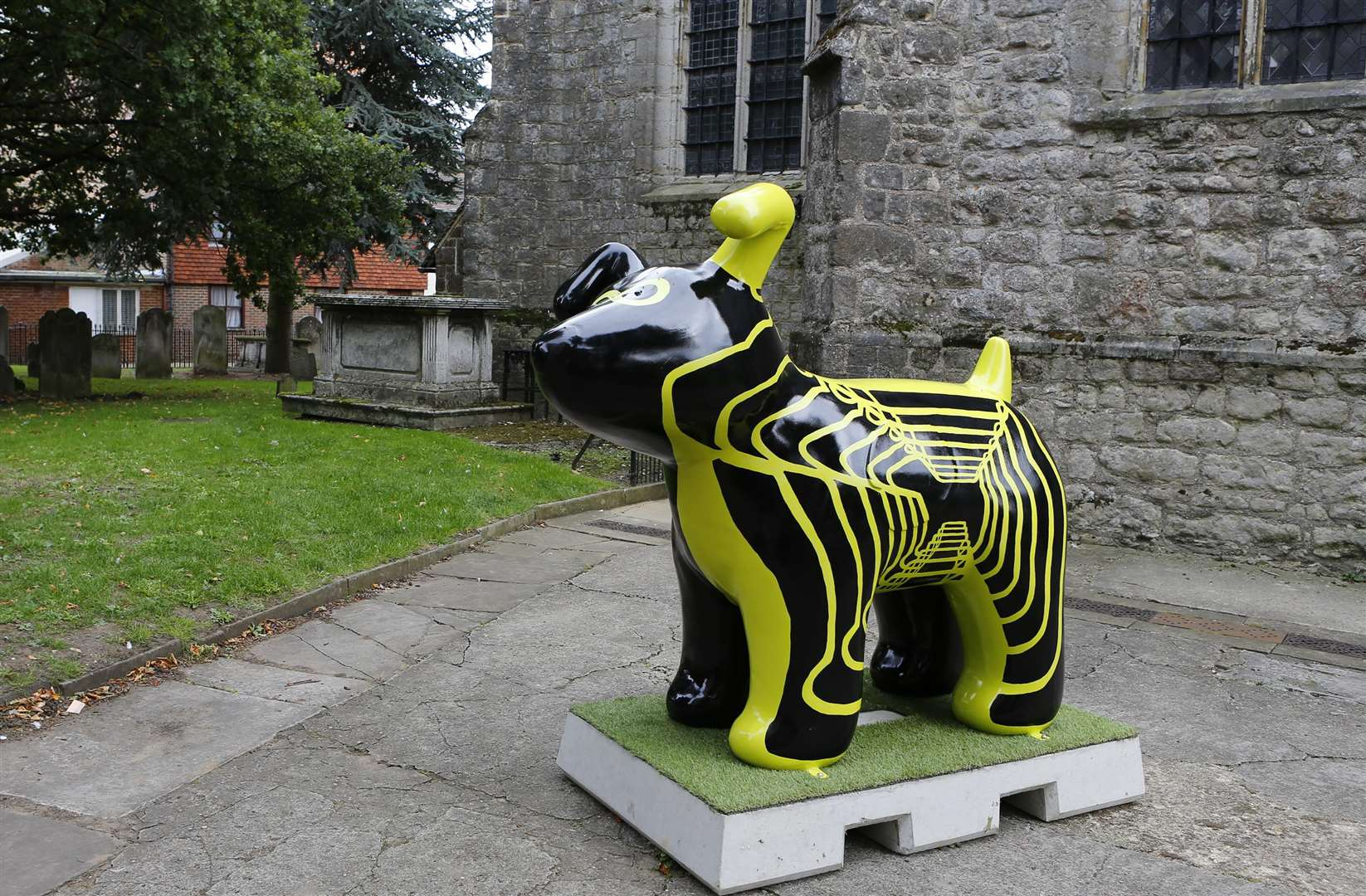 The Infinity Dog, by Jessica Holly Goddard, was removed from the church two weeks ago