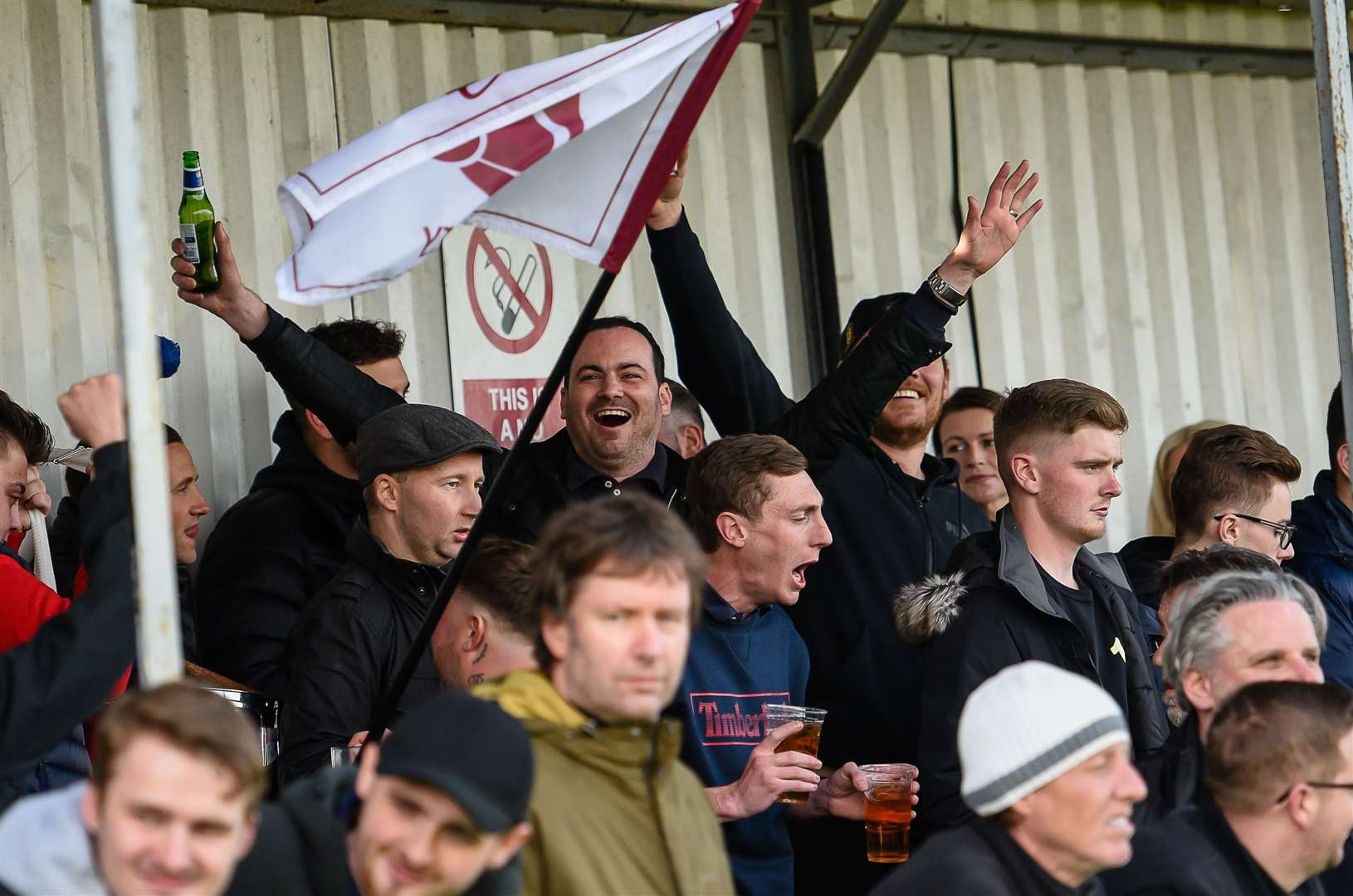 A crowd of 1279 packed into Salters Lane to watch the FA Vase semi-final second leg between Canterbury City and Cray Valley Picture: Alan Langley