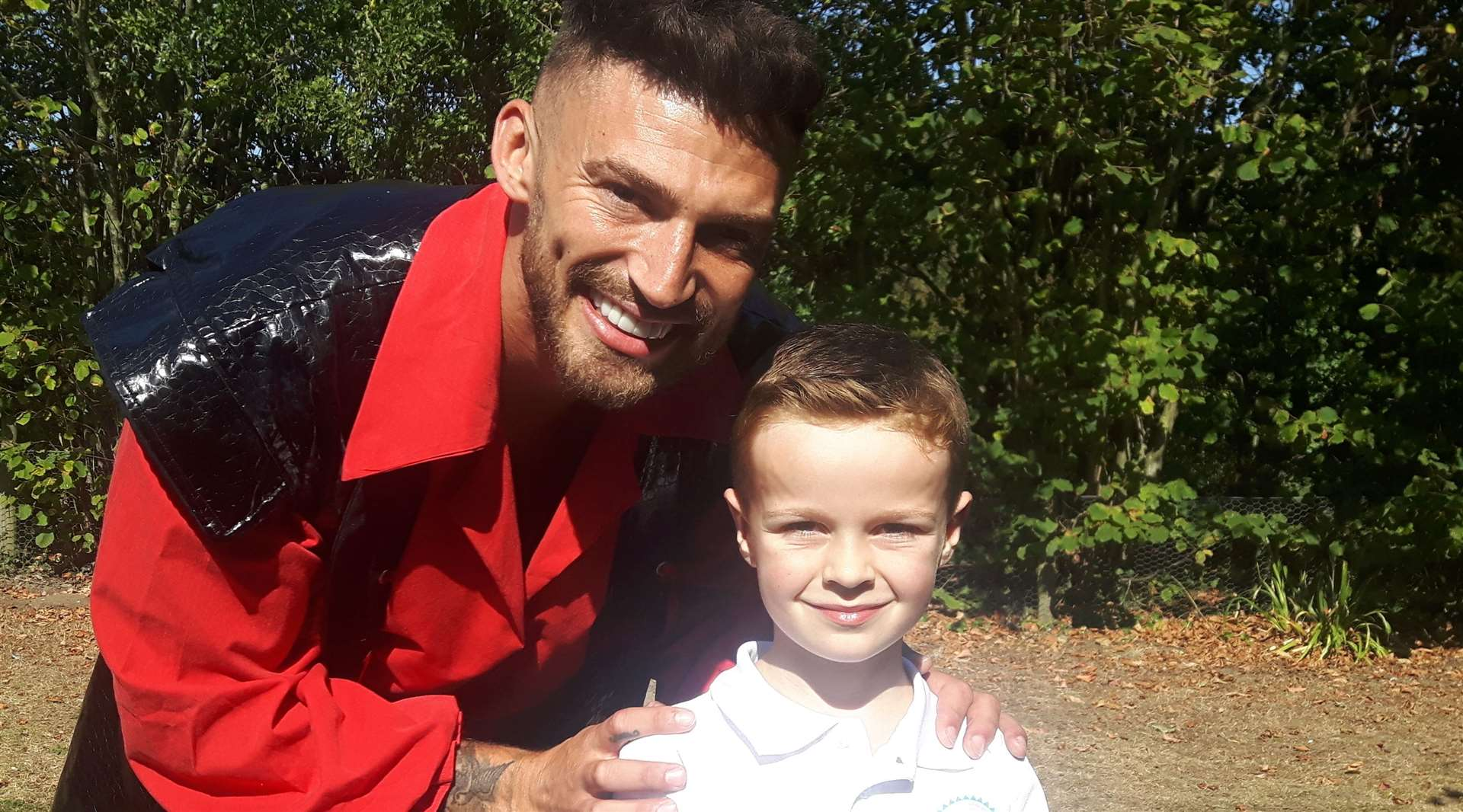 Jake Quickenden and six-year-old Ted Walker, from Maidstone