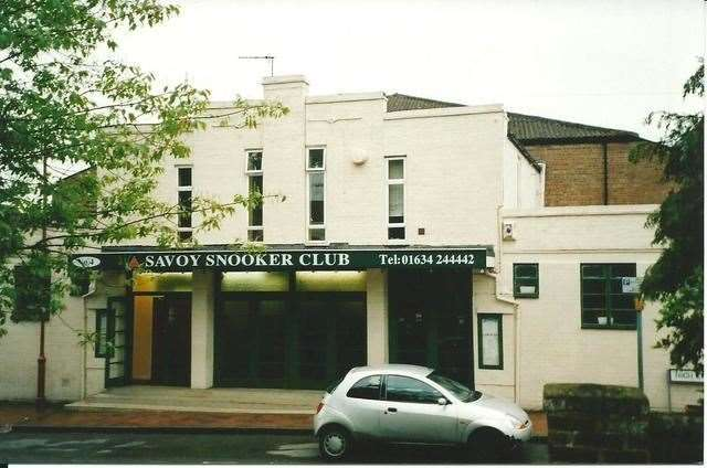 The Wardona cinema in Snodland as the Savoy Snooker Club