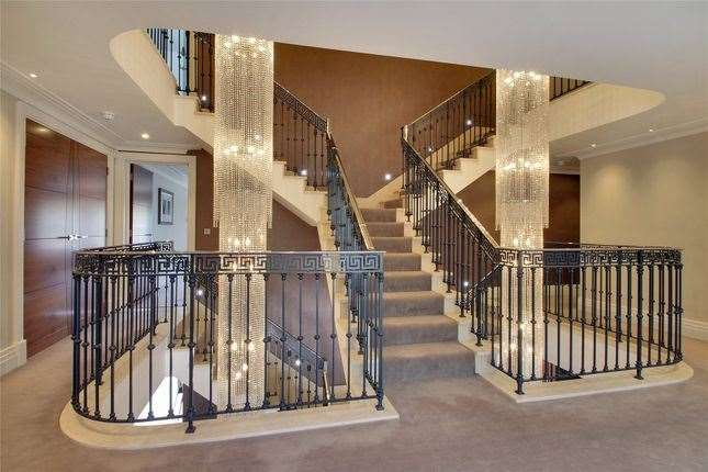 The marble staircase. Picture: Zoopla / Alan De Maid