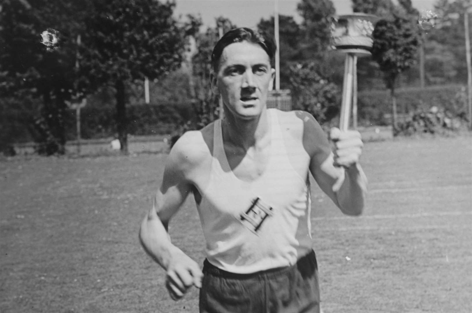 Ron Piles who ran through Kent with the Olympic Torch in 1948