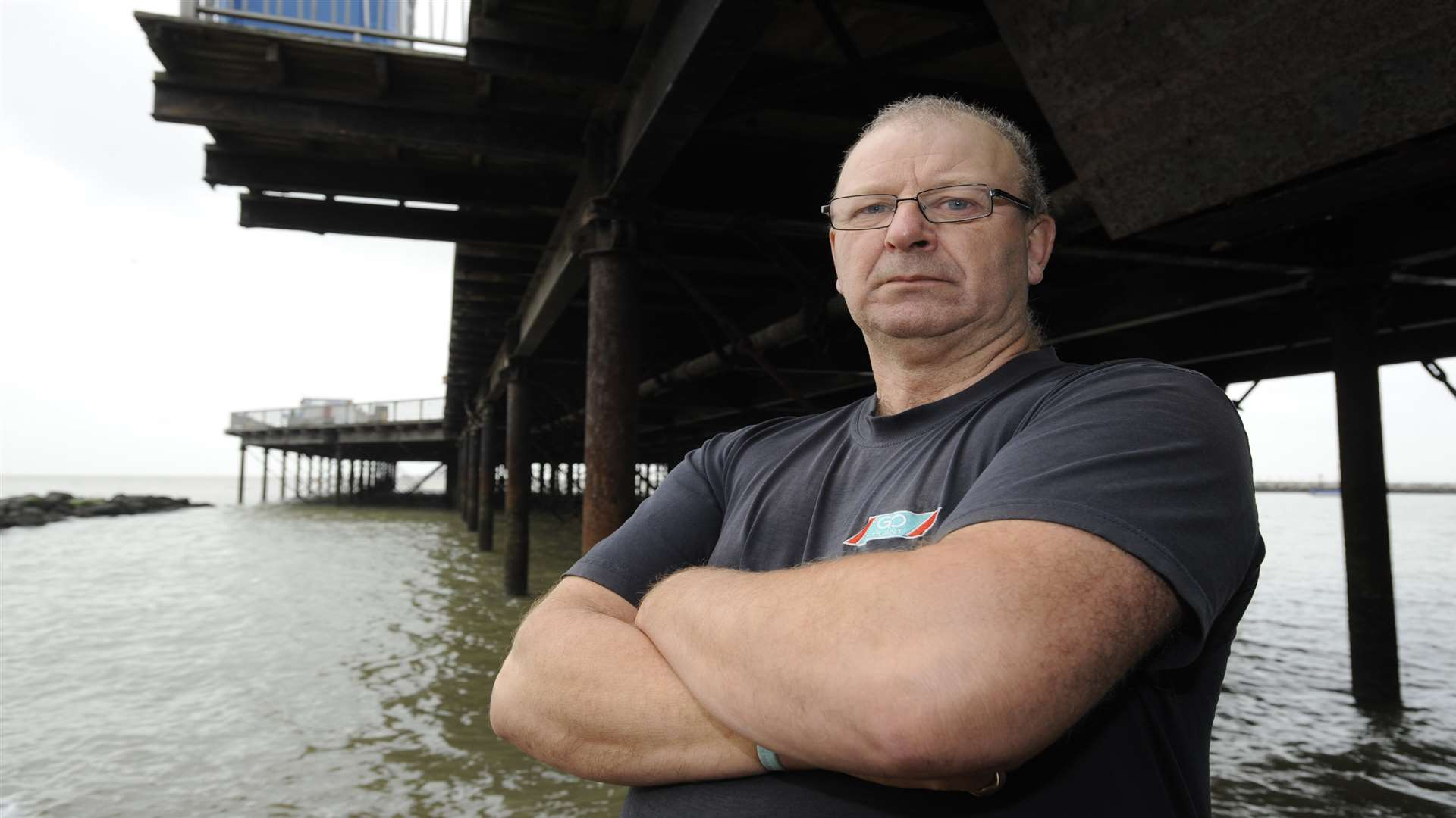 Andy Newell thinks the pier marina would act as a sea defence