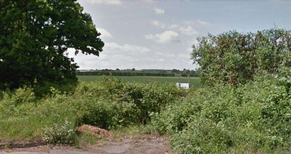 The site of the proposed housing development seen from Kiln Barn Road, Ditton. Picture: Google Street View