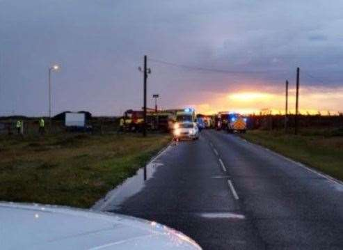 Serious crash at Dungeness. Picture@ @CNCDungeness (9577678)