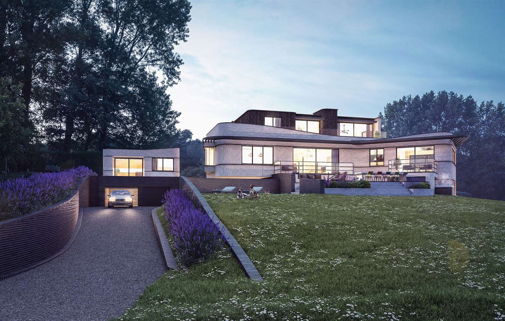 It will include four bedrooms, a swimming pool and annexe over the garage. Picture: Hollaway
