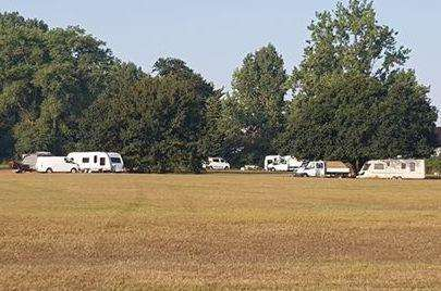 Travellers have pitched up at Mote Park in Maidstone