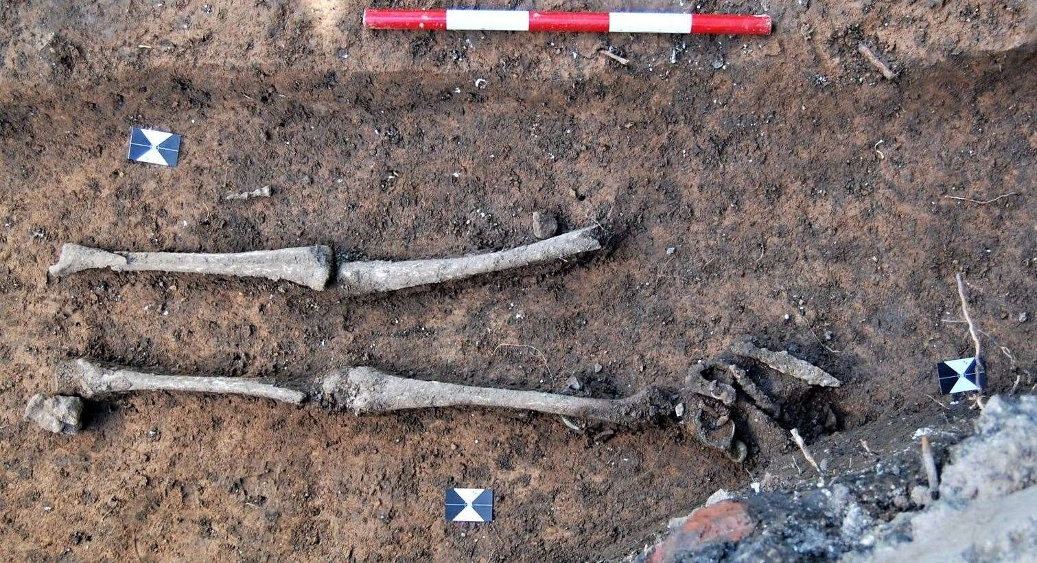 The skeleton of the Anglo Saxon woman