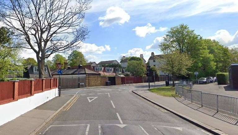 The incident happened in Upper Beulah Hill in Bromley. Google street views