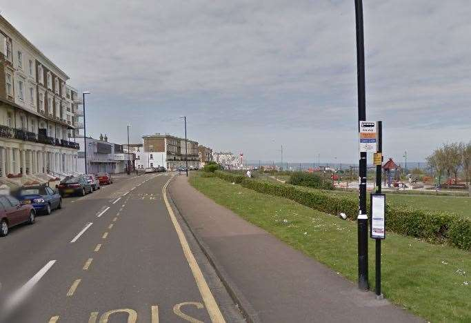 The reported assault took place in Ethelbert Crescent, Margate. Picture: Google street views (12290656)