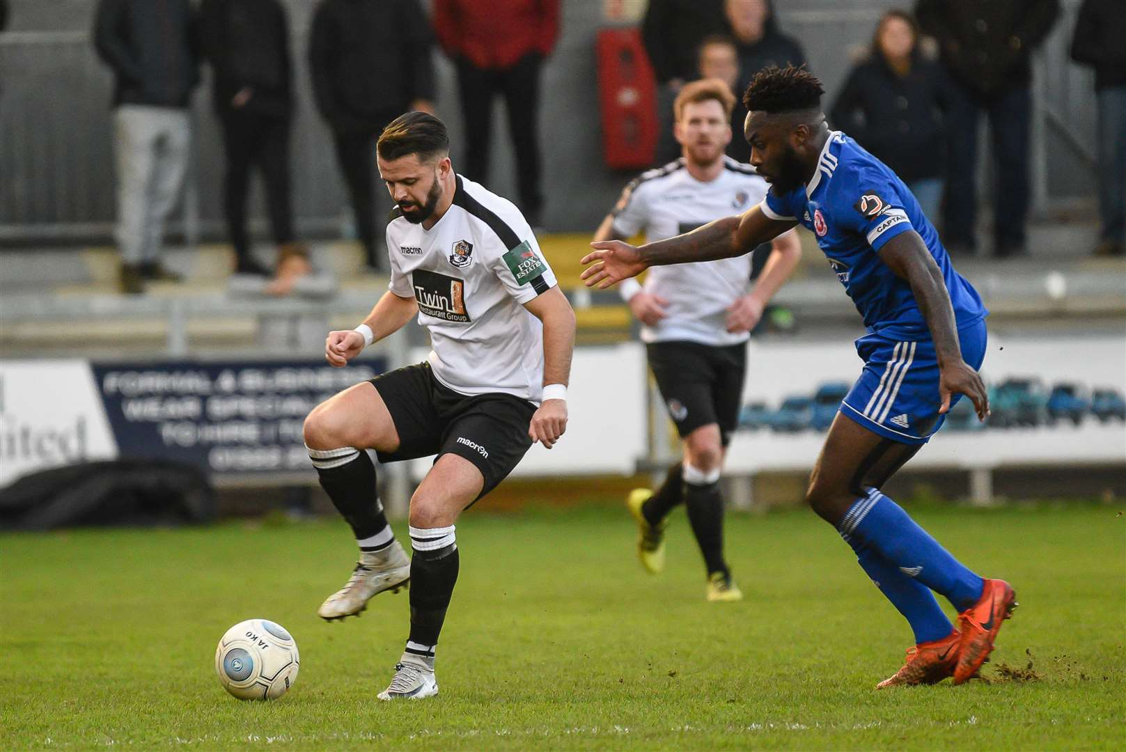 Dartford's Ben Greenhalgh on the ball against Welling Picture: Alan Langley