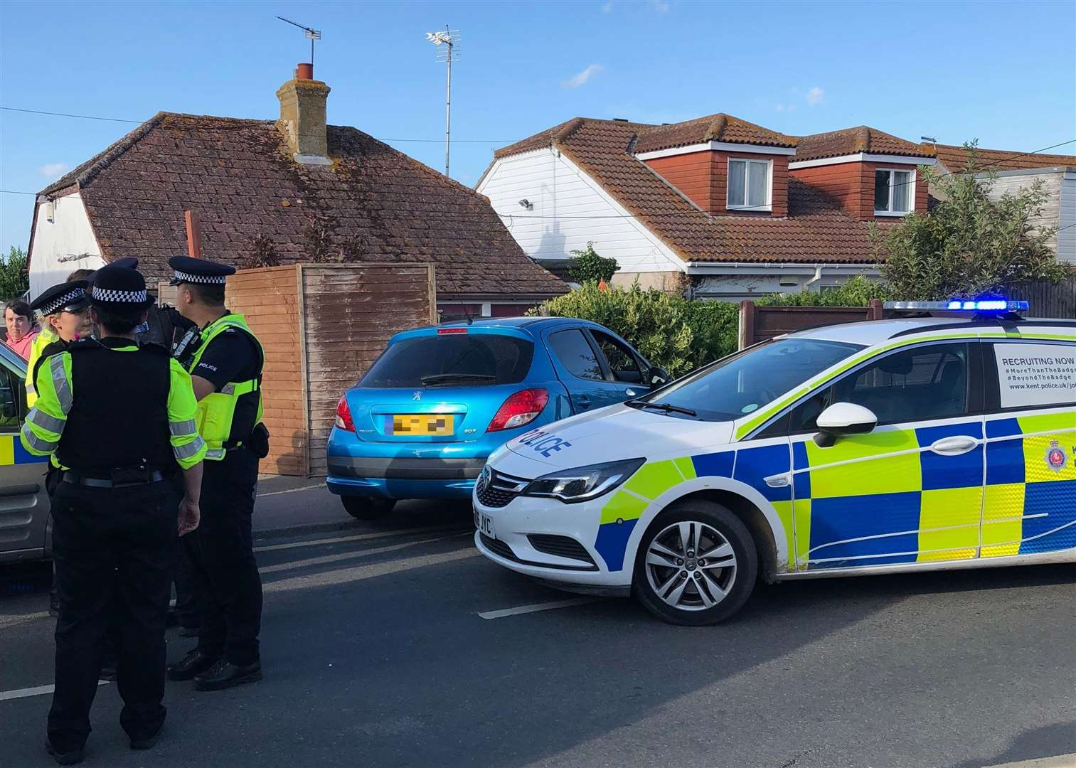 The car crashed into a fence in Leysdown on Saturday