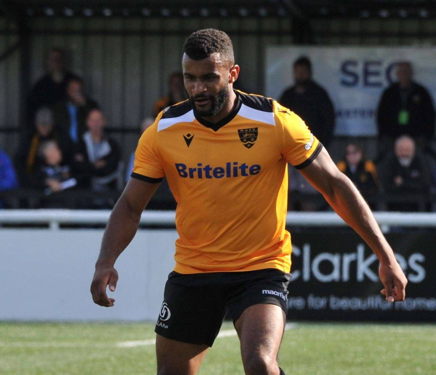 Dan Wishart gave Maidstone the lead at Dartford Picture: Steve Terrell