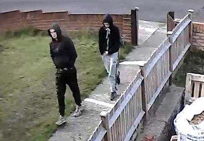 Police would like to talk to these men. Picture: Kent Police
