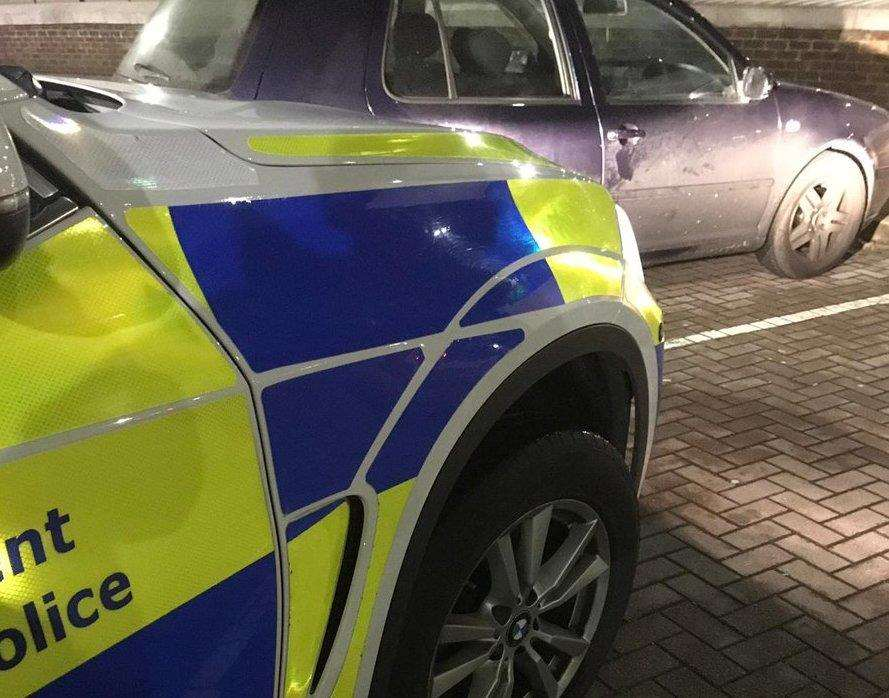 A VW Golf was seized after police found it was uninsured. Picture: Kent Police Roads Policing Unit